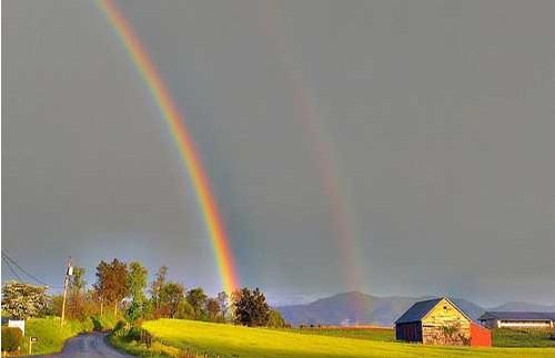 照片之旅:世界各地美丽的彩虹