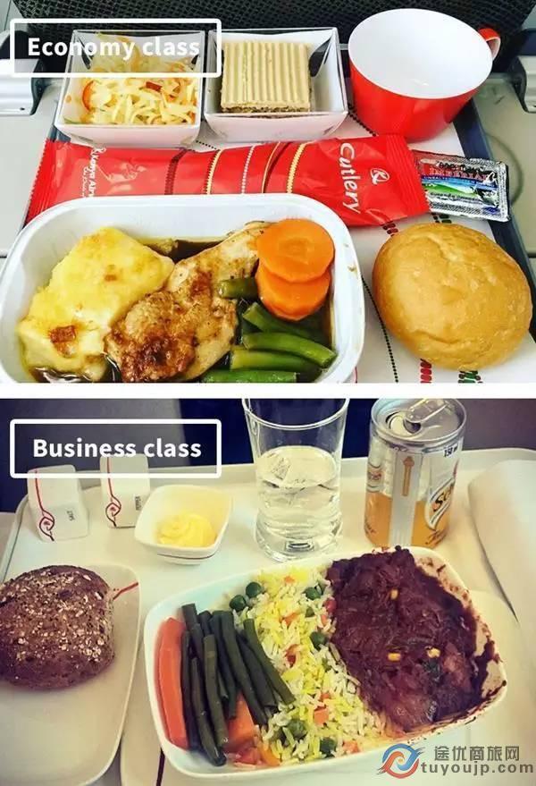 盘点各国航空公司不同舱位等级供餐饮食待遇